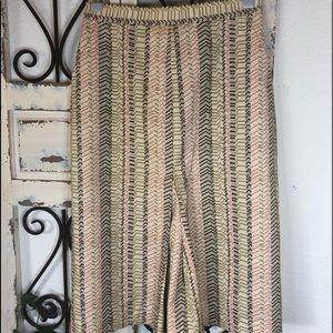J crew chevron print long pencil skirt
